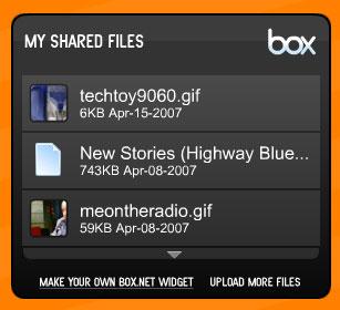 Box.net edublogs widget