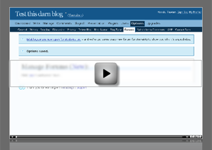 Setting up an Edublogs forum