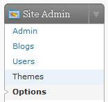 Site Admin > Options menu