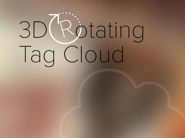 3D Rotating Tag Cloud
