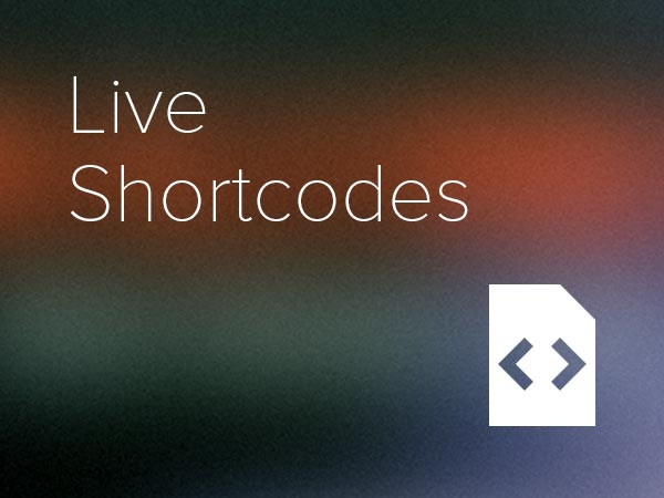 Live Shortcodes