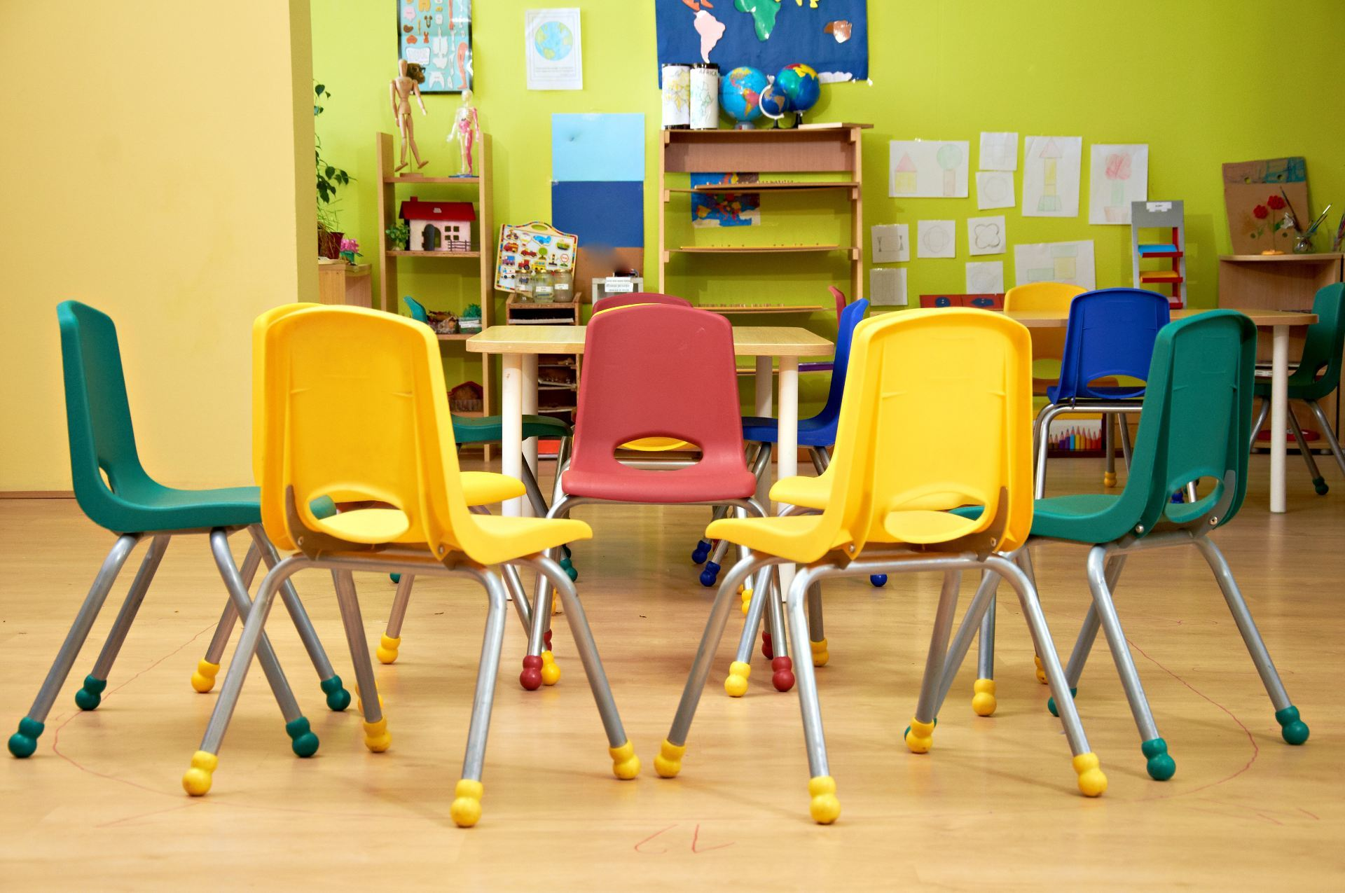Colorful chairs in a classroom | 10 Great Examples of Class Blogs