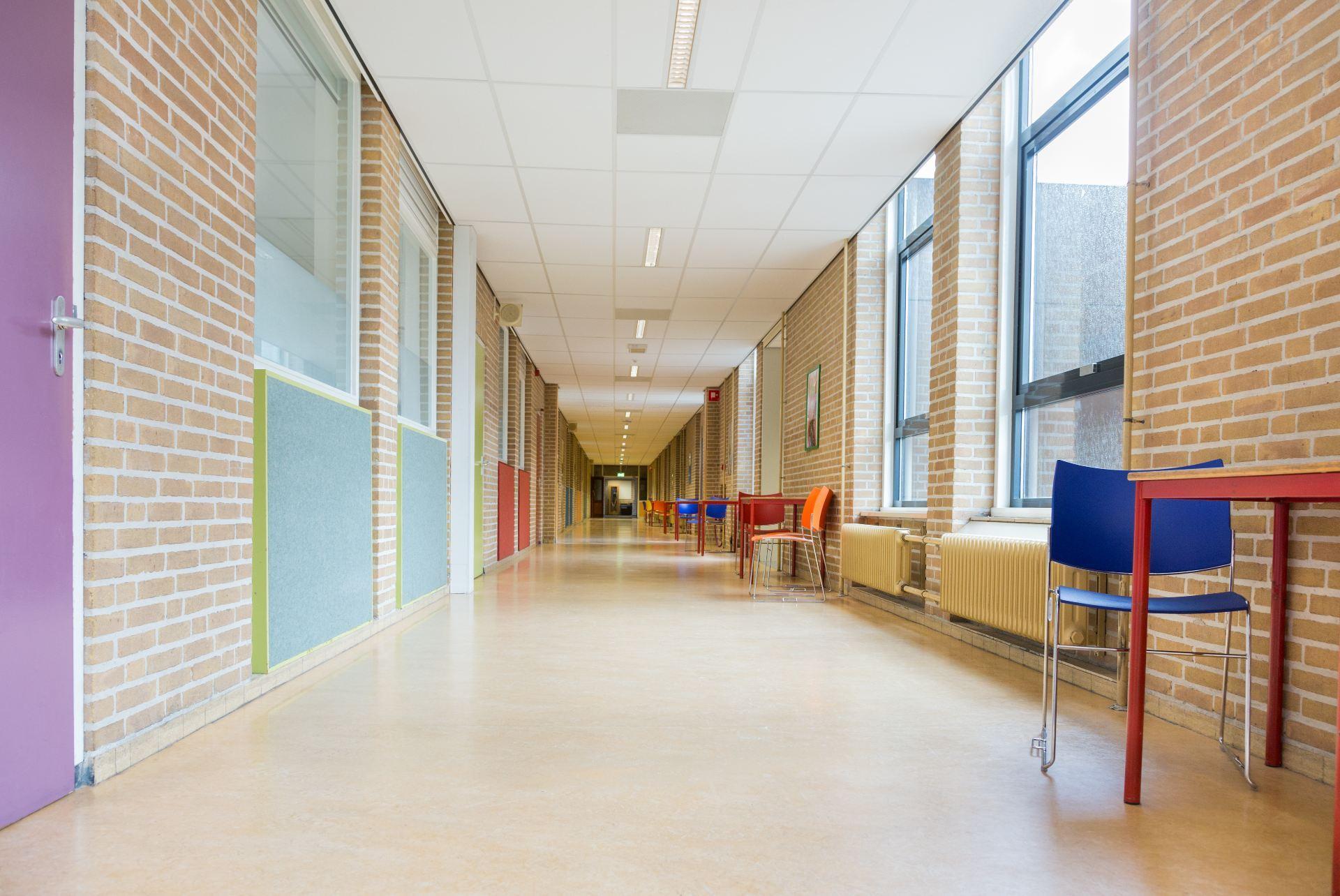 Image of school hallway