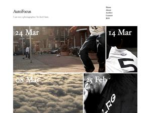 Autofocus photo blogging theme